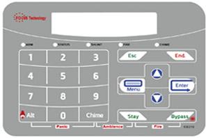 עיצוב פאנל למערכת אזעקה גודל A5 - פוקוס טכנולוגיות