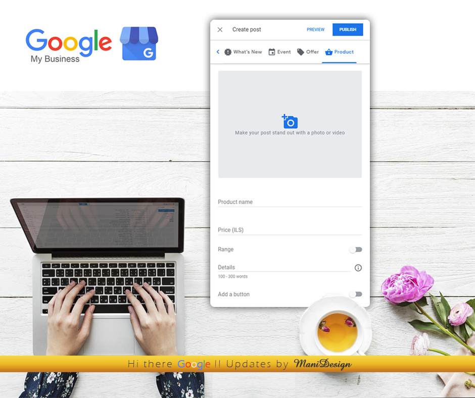 Google My Business - Product post